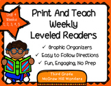 McGraw Hill Wonders 3rd Grade Unit 4 Print and Teach Leveled Readers