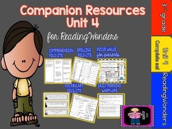 "Reading Wonders Unit 4 ""The Complete Set"" of Mega Pack Units for Grade 3"