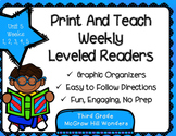 McGraw Hill Wonders 3rd Grade Unit 5 Print and Teach Leveled Readers