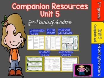 "Reading Wonders  Unit 5 ""The Complete Set"" of Mega Pack Units for Grade 3"