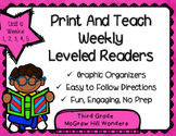 McGraw Hill Wonders 3rd Grade Unit 6 Print and Teach Leveled Readers