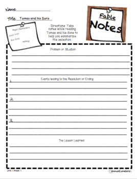 McGraw Hill Wonders 4th Gr. Anthology Unit 1 No Prep, Note Taking w/Questions