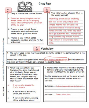 McGraw Hill Wonders 4th Gr. Anthology Units 1-6 No Prep, Note Taking w/Questions