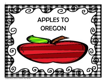 Apples to Oregon - 4th Grade Tri folds + Activities ( Read