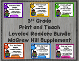 McGraw Hill Wonders 3rd Grade Bundled Units 1-6 Print and Teach Leveled Readers