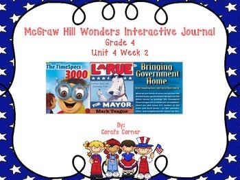 Wonders 4th Grade Interactive Journal Unit 4 Week 2