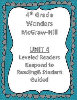 McGraw Hill Wonders 4th Grade Unit 4 Leveled Readers-Combo Pack