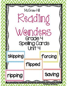 McGraw-Hill Wonders 4th Grade Spelling Words Unit 4