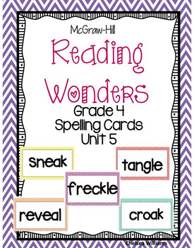 McGraw-Hill Wonders 4th Grade Spelling Words Unit 5
