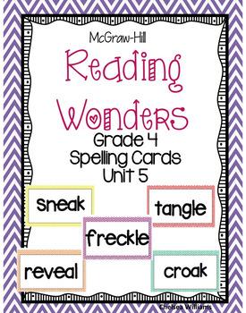 McGraw-Hill Wonders 4th Grade Spelling Words Unit 5