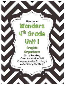 McGraw-Hill Wonders 4th Grade Unit 1 Reading Strategies Story Skills Pack