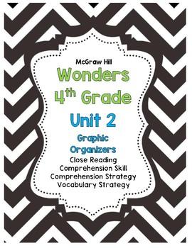 McGraw-Hill Wonders 4th Grade Unit 2 Reading Strategies Story Skills Pack