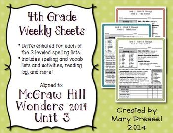 McGraw Hill Wonders 4th Grade - Unit 3