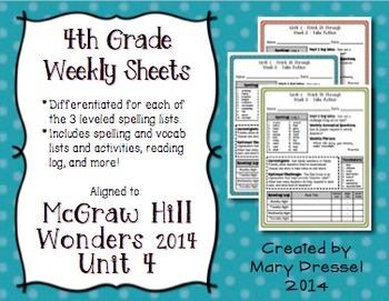 McGraw Hill Wonders 4th Grade - Unit 4