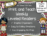 McGraw Hill Wonders 4th Grade Unit 4 Print and Teach Leveled Readers