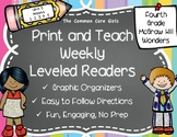 McGraw Hill Wonders 4th Grade Unit 5 Print and Teach Leveled Readers