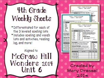 McGraw Hill Wonders 4th Grade - Unit 6