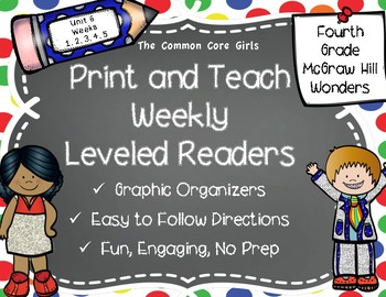 McGraw Hill Wonders 4th Grade Unit 6 Print and Teach Leveled Readers