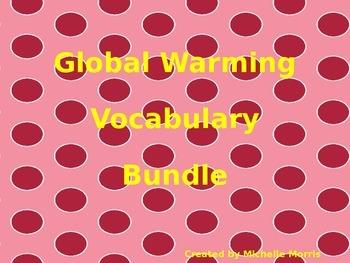 McGraw Hill Wonders, 5th - Global Warming Vocabulary Bundle