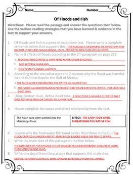 McGraw Hill Wonders, 5th - Global Warming WB pg. 223 - 224 Questions