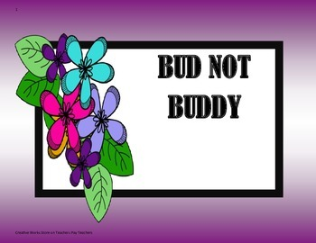 Bud Not Buddy - 5th Grade - Tri Folds + Activities