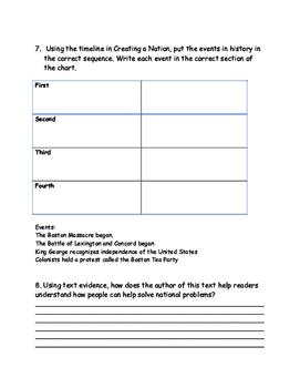McGraw Hill Wonders 5th Grade Creating a Nation Unit 2 Week 1 FSA Test