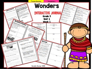 Wonders 5th Grade Interactive Journal Unit 1 -Week 1