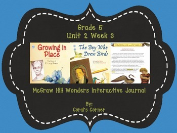 Wonders 5th Grade Interactive Journal  Unit 2 Week 3