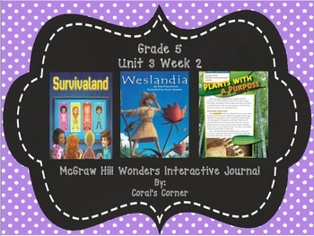 Wonders 5th Grade Interactive Journal  Unit 3 Week 2