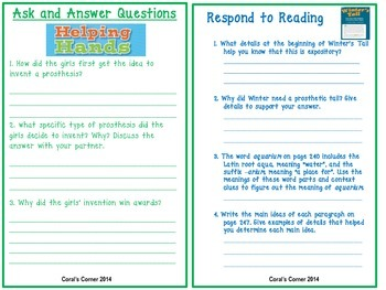 Wonders 5th Grade Interactive Journal Unit 3 Week 4