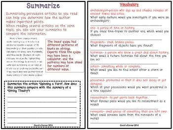 Wonders 5th Grade Interactive Journal Unit 3-Week 5