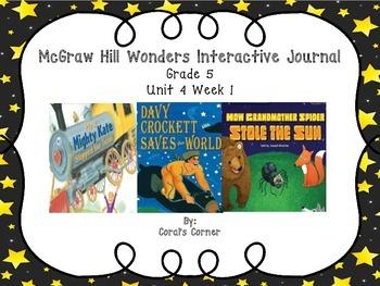 Wonders 5th Grade Interactive Journal Unit 4-Week 1