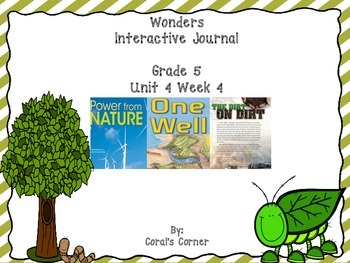 Wonders 5th Grade Interactive Journal Unit 4-Week 4