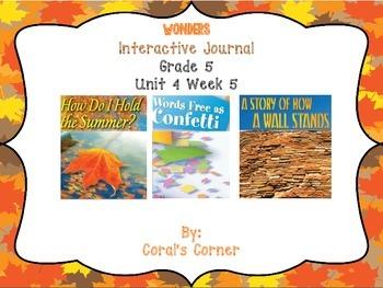 Wonders 5th Grade Interactive Journal Unit 4-Week 5