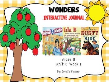 Wonders 5th Grade Interactive Journal Unit 5-Week 1