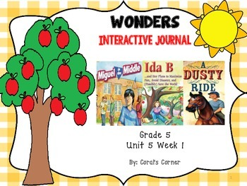 Wonders 5th Grade Interactive Journal Unit 5-Week 1