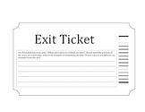 McGraw Hill Wonders 5th Grade Second Day, First Impressions Exit Ticket