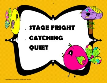 Stage Fright + Catching Quiet Poetry Analysis for Reading Wonders 5th Grade