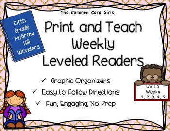 McGraw Hill Wonders 5th Grade Unit 2 Print and Teach Leveled Readers