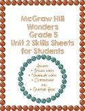 McGraw Hill Wonders 5th Grade Unit 2 Skills Sheets
