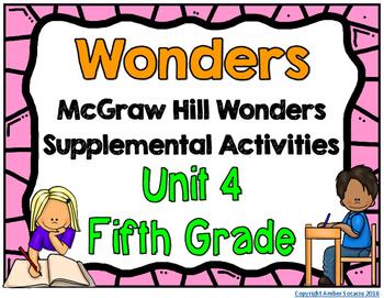 McGraw Hill Wonders 5th Grade Unit 4 Activities