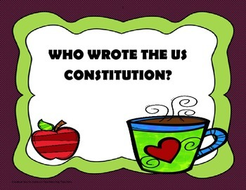 Who Wrote the US Constitution? - 5th Grade Trifolds+Activities