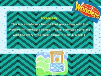 McGraw Hill Wonders, 5th - One Well Vocabulary Bundle