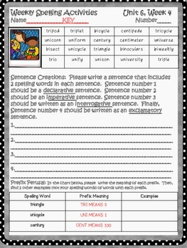 McGraw Hill Wonders, 5th - Planting the Trees of Kenya Spelling Activity Sheet