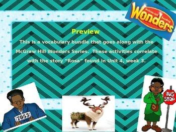 McGraw Hill Wonders, 5th - Rosa Vocabulary Bundle
