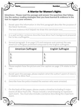 McGraw Hill Wonders, 5th Rosa WB pg. 173 -174 text dependent questions