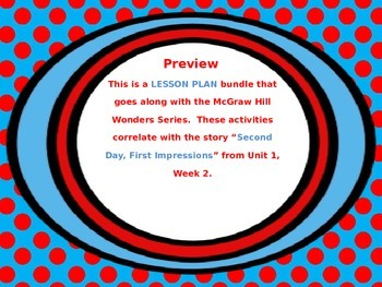 McGraw Hill Wonders, 5th - Second Day First Impressions Le