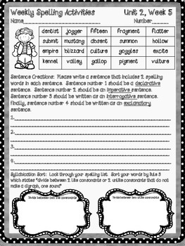 McGraw Hill Wonders, 5th - Stage Fright Spelling Activity Sheet