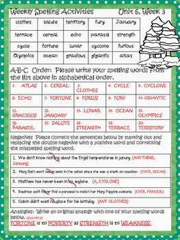 McGraw Hill Wonders, 5th - Survival at 40 Below Spelling Activity Sheet