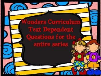 McGraw Hill Wonders, 5th - Text Dependent Questions MEGA Bundle